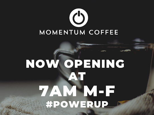 Momentum Coffee and Coworking's New Operating Hours